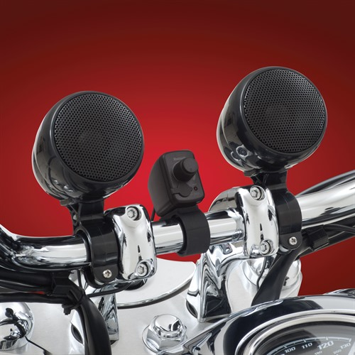 Bluetooth Stereo System Black on Bike