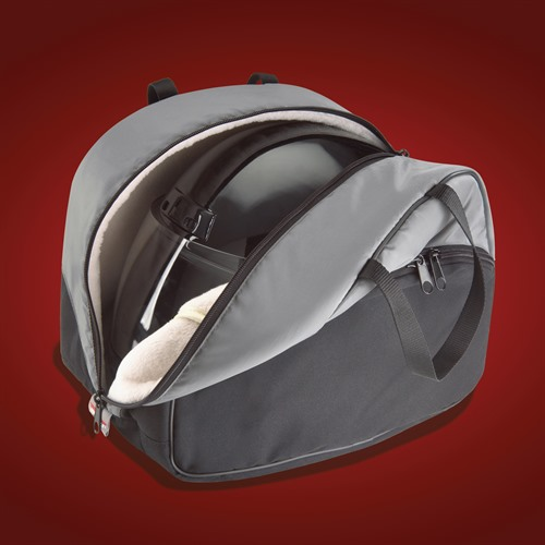 Open Helmet Bag with Helmet