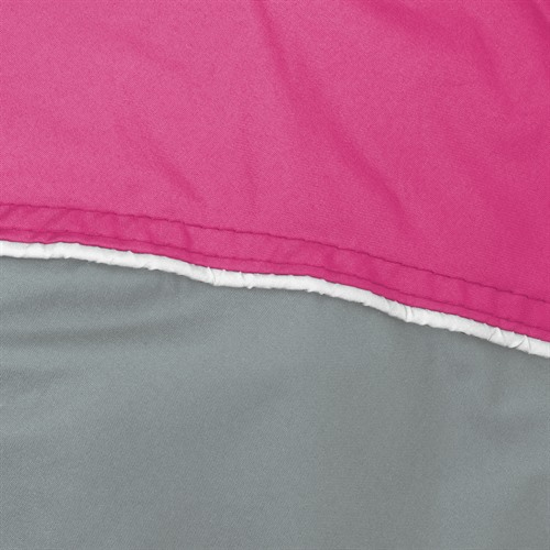 Pink over Charcoal Reflective Piping
