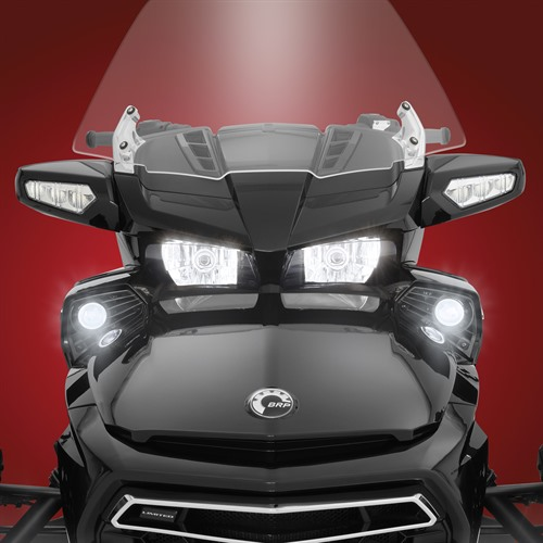 LED Fog Light Kit on Spyder F3 Front View