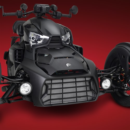 Black Focus LED Light Kit on Can-Am Ryker (Lights OFF)