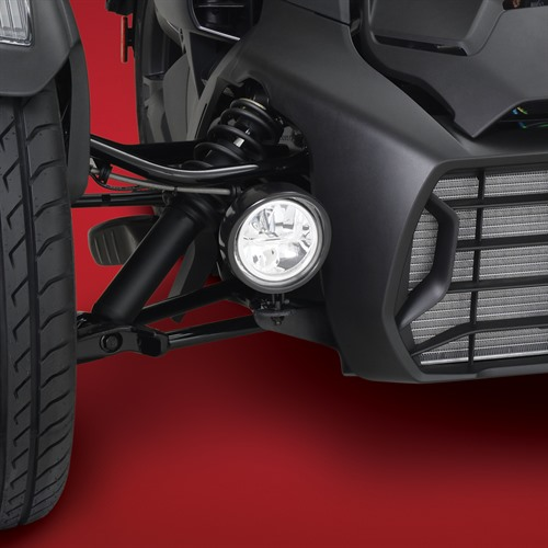 Black Focus LED Light Kit on Can-Am Ryker (Close Up)