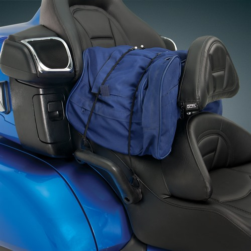 Bungee Seat Tie-downs in Use