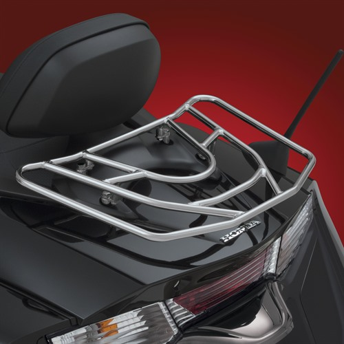 Chrome Luggage Rack on Bike