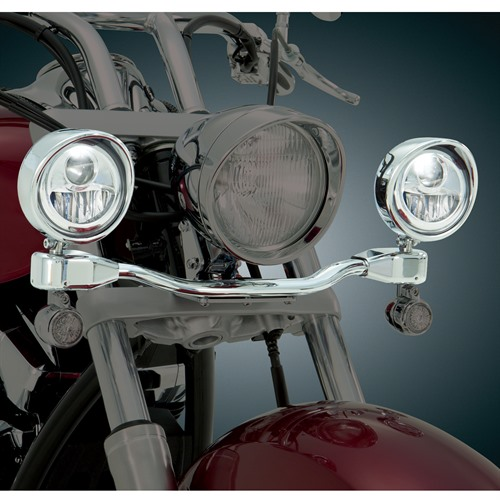 LED Elliptical Light Bar on Bike