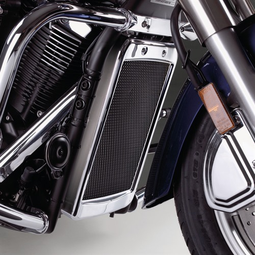 Mesh Radiator Grille on Bike