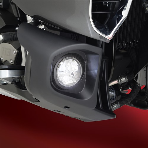 Fog Light Kit on Yamaha Venture (Side View ON)