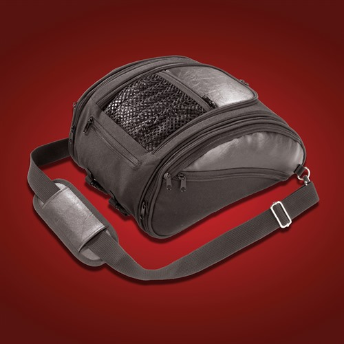 Deluxe Solo Rack Bag Side Pockets Closed