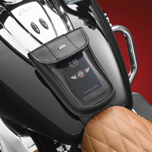 Tank Pouch on Indian Roadmaster (Phone)