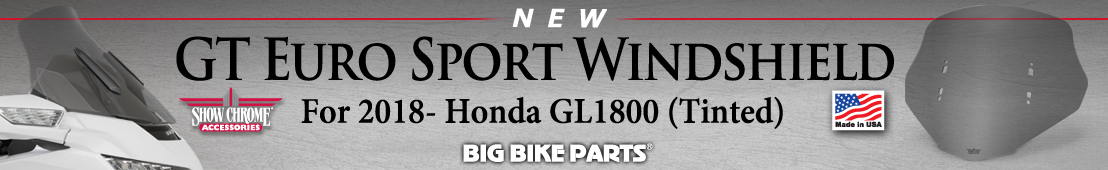 GT Euro Sport Tinted Windshield For 2018 GL1800 -   