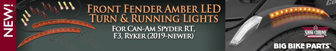 Amber LED Front Fender Side Lights For Can-Am Ryker - 