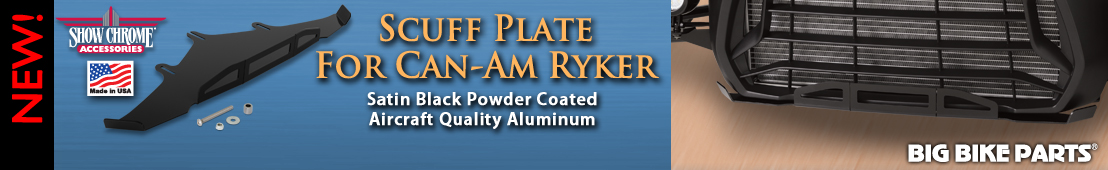 Satin Black Powder Coat Aluminum Scuff Plate For Ryker - 