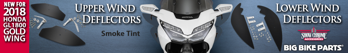 Smoke Wind Deflectors for 2018 Honda GL1800 - 