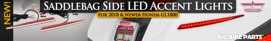 Saddlebag Side LED Accent Lights For Honda GL1800 (2018 & newer)