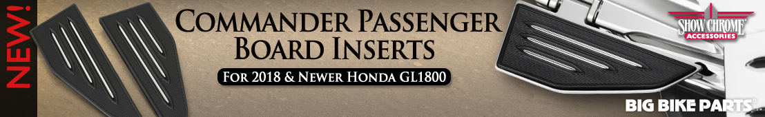 Commander Passenger Board Inserts For Honda GL1800 Gold Wing (2018 and newer) - 